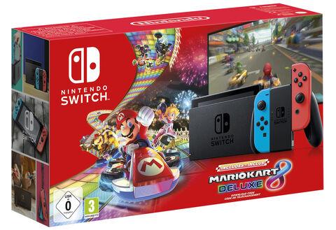 Pack Nintendo Switch Joy Con Neons Mario Kart 8 Deluxe Code De Telechargement Mario Kart Nintendo Switch Et Nintendo