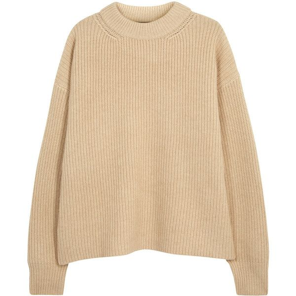 ca8ade15ed6 THE ROW Delia ribbed camel hair jumper ($1,260) ❤ liked on Polyvore ...