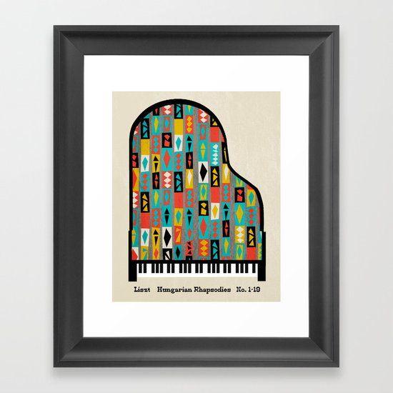 Liszt - Hungarian Rhapsodies Framed Art Print by andrealauren | Society6