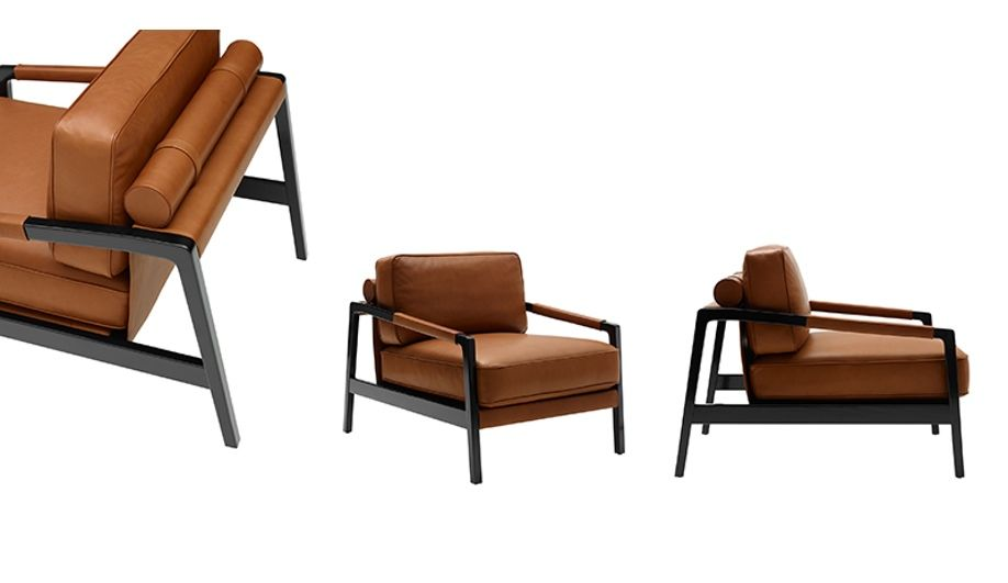 cd16b701e5ce Fendi Casa s Kathy armchair is constructed with a solid beechwood structure  and features a cushiony seat back and seat – and matching tube pillow ...