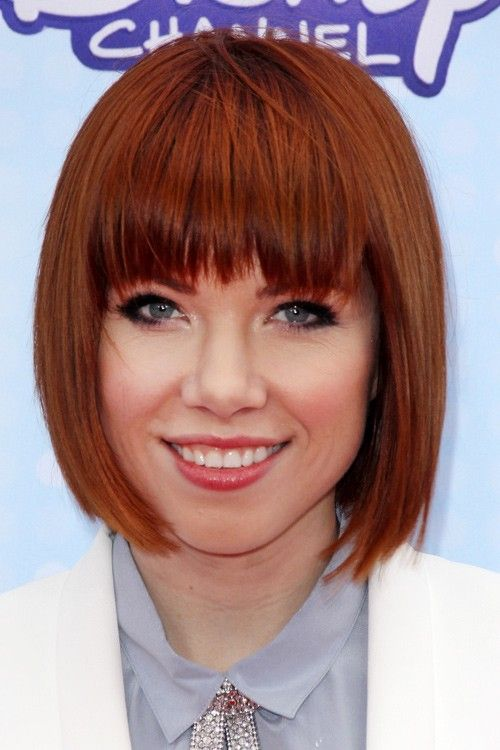 Carly Rae Jepsen Hair Carly Rae Jepsen Straight Auburn