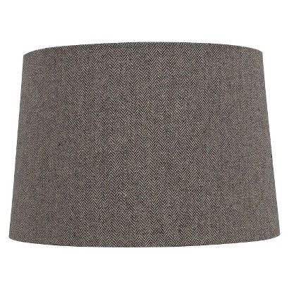 Target Threshold Lampshade Herringbone Large Grey