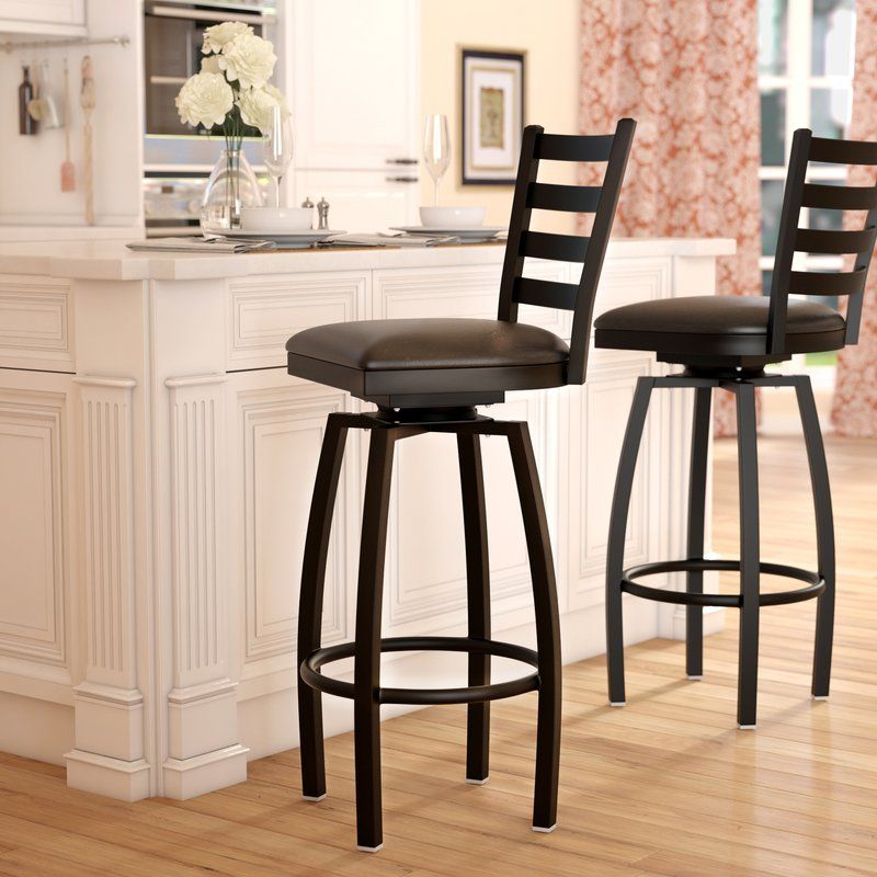 An Upscale Take On Traditional Style This 32 Quot Swivel Barstool Adds A Sophisticated Touch To Your Casual Or Fo Bar Stools Swivel Bar Stools Kitchen Stools