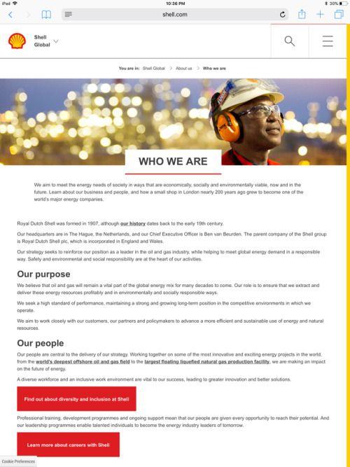 Shell Purpose Statement Purpose Statement Purpose Energy