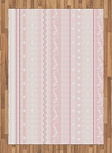 Light Pink Area Rug By Lunarable