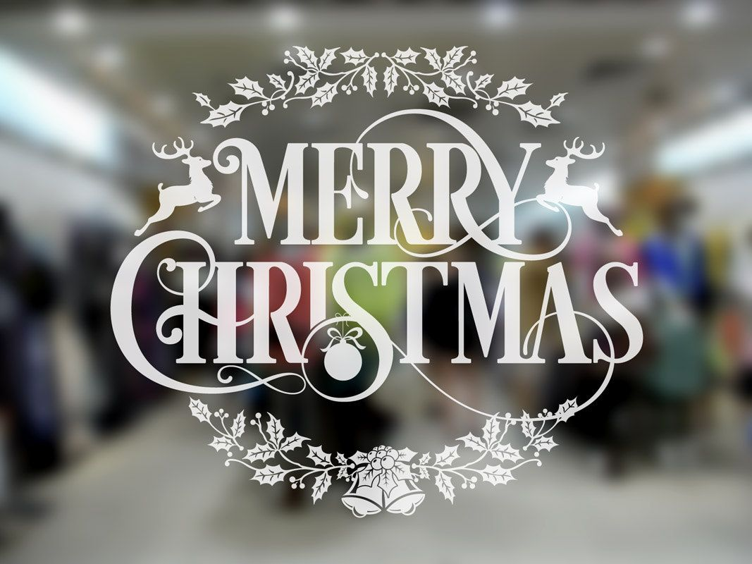 Christmas wreath wall sticker suitable for windows walls mirrors christmas wreath wall sticker suitable for windows walls mirrors etc by gcmstore amipublicfo Choice Image