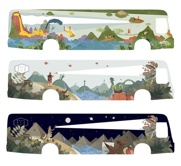 Bus wrapping design-EARTHDESIGNWORKS