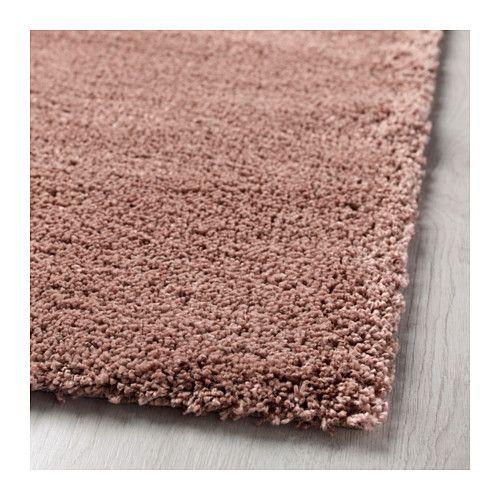 ÅDUM Matto, korkea nukka, vaalea rusehtava roosa 133x195 cm vaalea rusehtava roosa