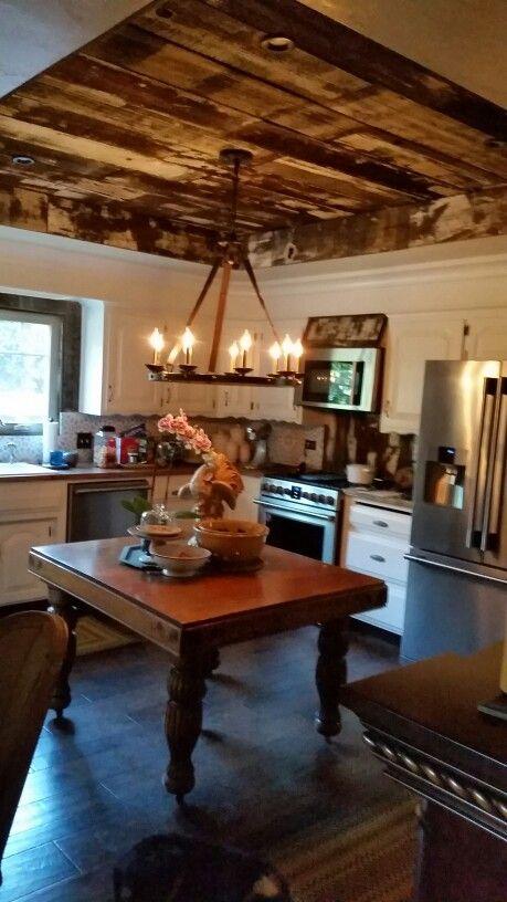Barnwood ceiling | Melinda Davis Finishing Touches ...