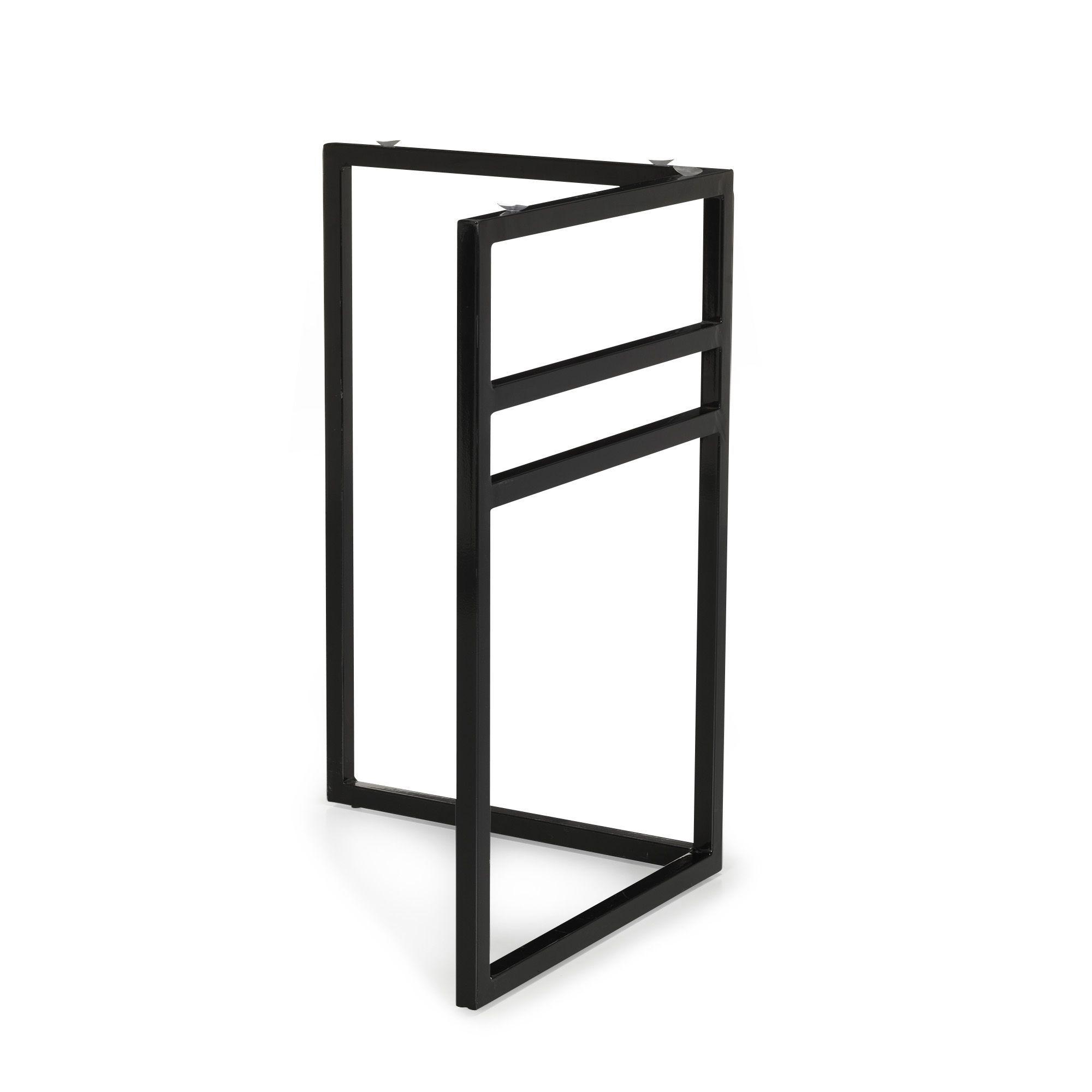 tr teau droit pour bureau noir alesia les plateaux et tr teaux les bureaux bureau. Black Bedroom Furniture Sets. Home Design Ideas