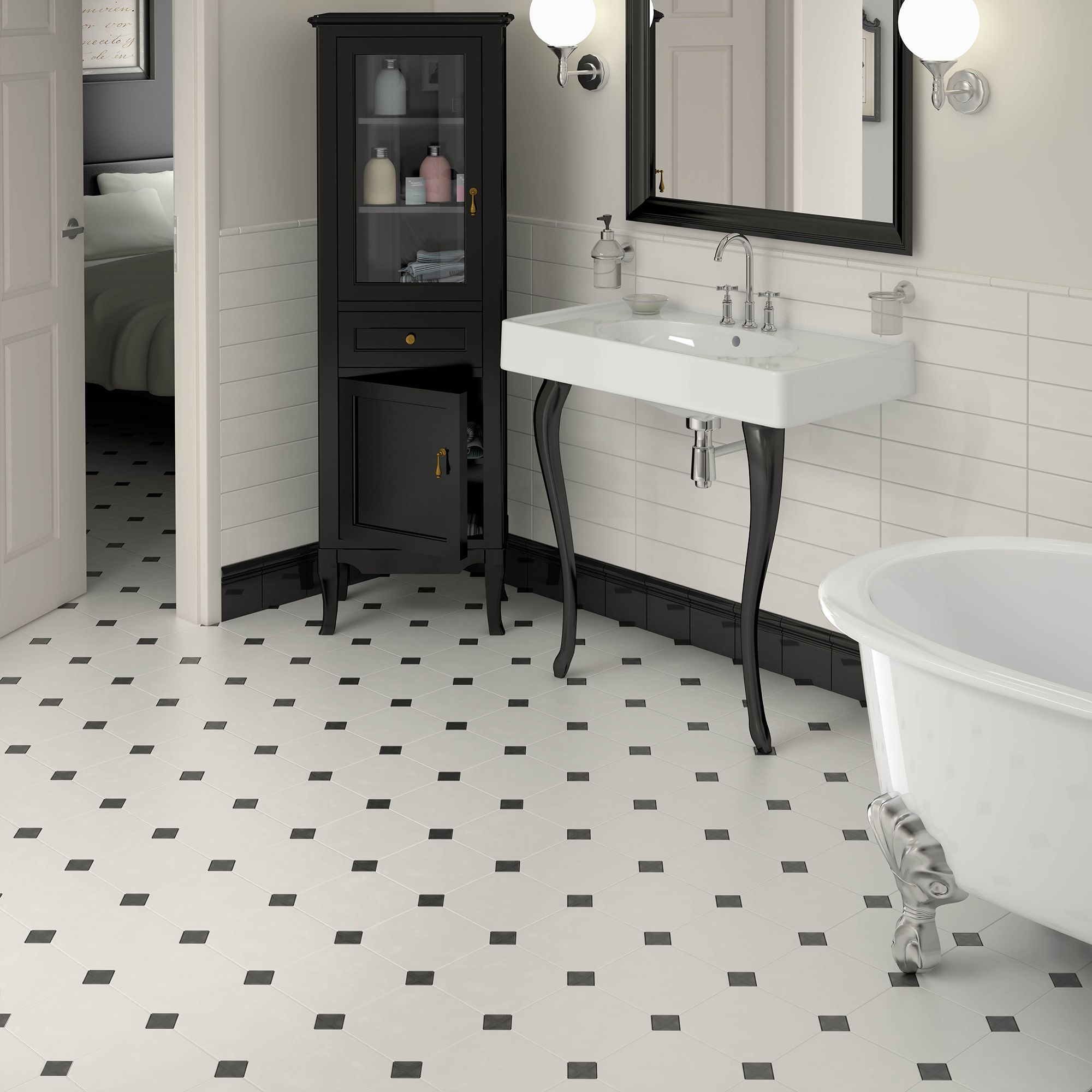 Heritage style bathroom with our octagon floor tiles you can heritage style bathroom with our octagon floor tiles you can create this look with any dailygadgetfo Gallery