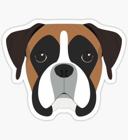 Pegatinas Boxer Diseno De Perro Artesanias De Perro Perros En Caricatura