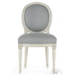 Chaise Louis Xvi Patinee Tissu Gris Medaillon Chaise Ancienne Chaise Saulaie