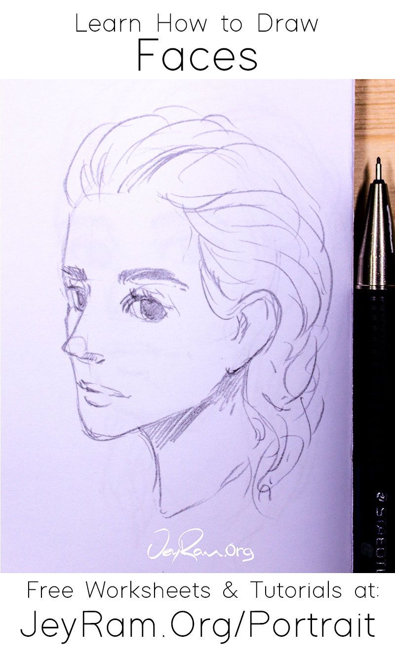 How To Draw Simple Faces Worksheets Tutorials In 2020 Drawings Drawing Skills Face Drawing