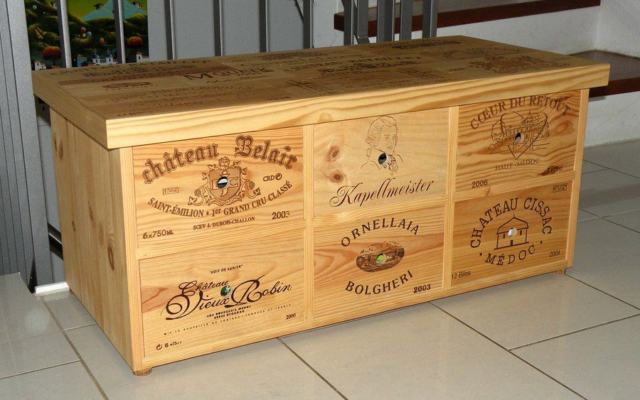 wine crate projects small cabinet furniture made with used wine crates diy. Black Bedroom Furniture Sets. Home Design Ideas