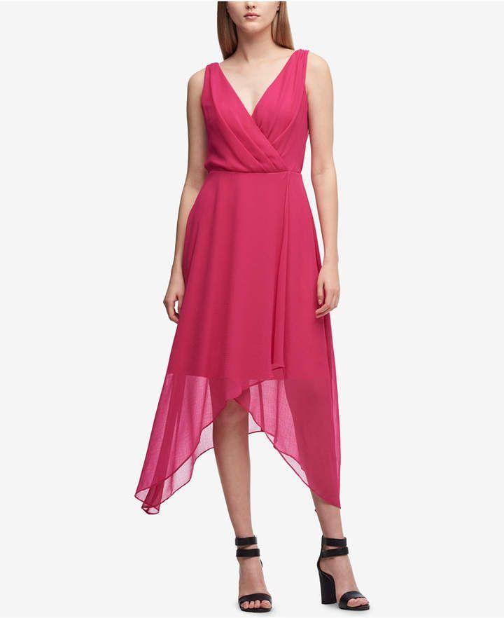 DKNY Pebble Chiffon High-Low Dress, Created for Macy's #backlesscocktaildress