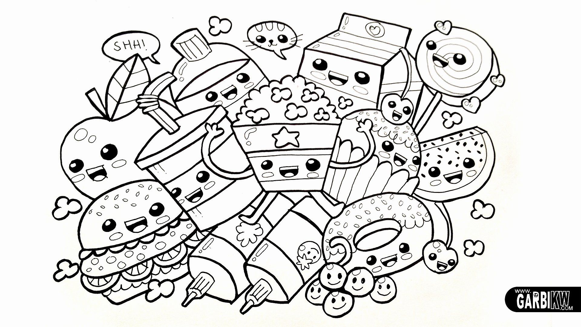 Coloring Pages Cartoons Printable In 2020 Food Coloring Pages