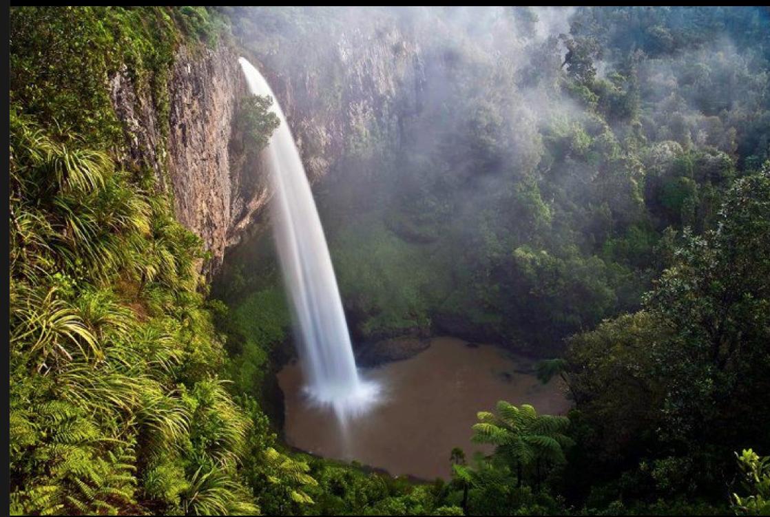 AROUND THE BEND New Zealand Bridal veil falls, Beautiful