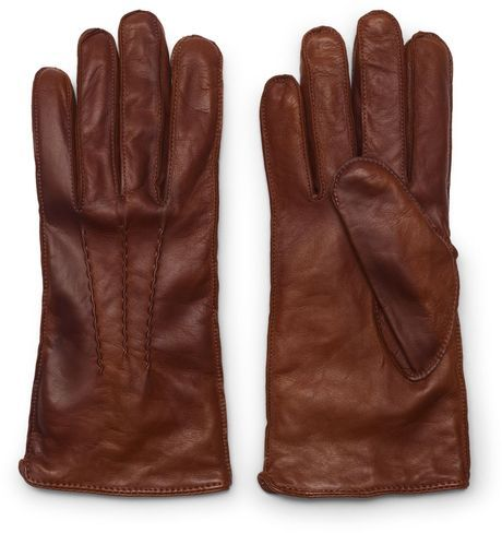 Club Monaco Men's Washed Leather Gloves