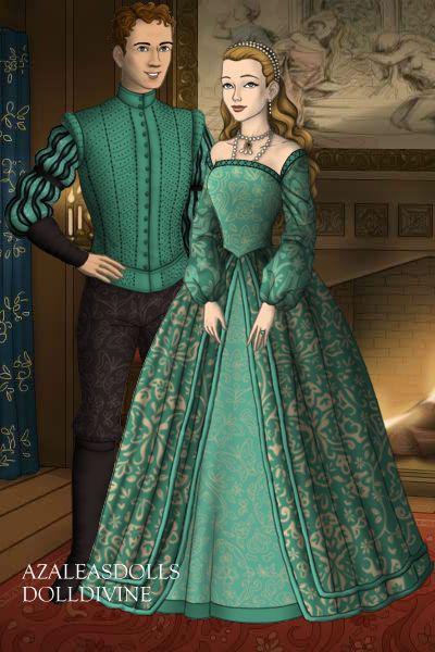 William and Mary Stafford (nee Boleyn) ~ by QueenAnneBoleyn ~ created using the Tudors doll maker   DollDivine.com