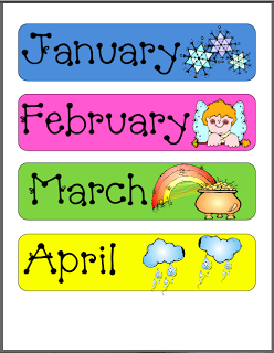 photo relating to Free Printable Months of the Year referred to as Printable Weeks of 12 months for at dwelling clroom Little one things