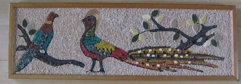 Mid Century Modern Peacock Art