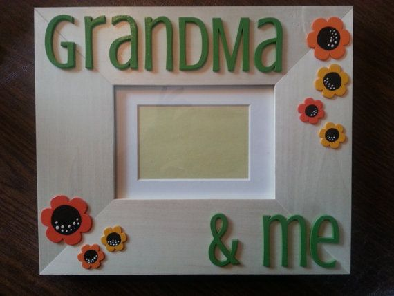 Hand-painted Grandma & Me wood frame -- custom colors available for ...