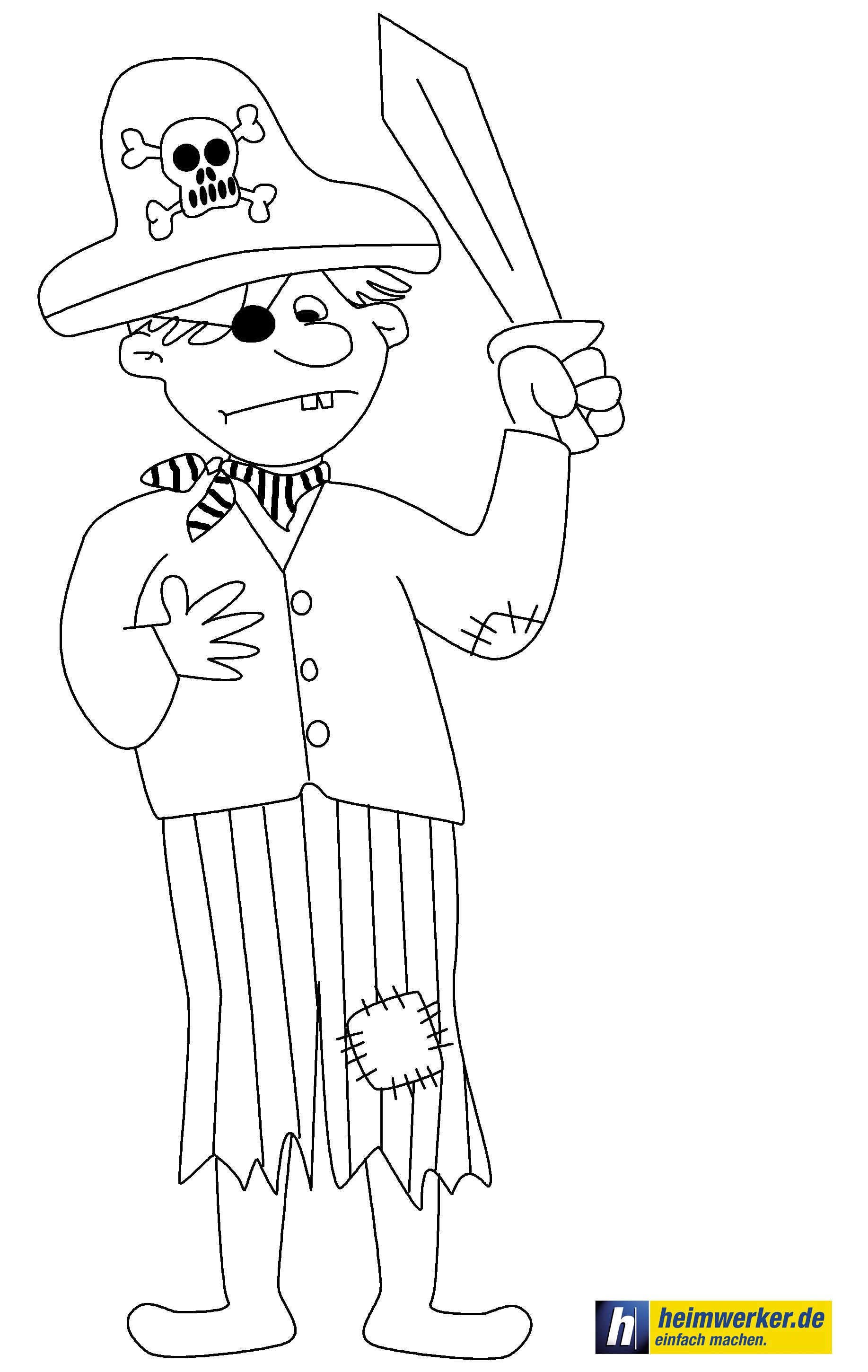Pirate coloring page Piraten Ausmalbild | Malvorlagen für Kinder ...