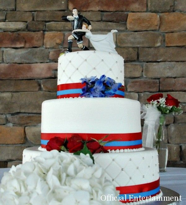 Rugby Cake - rugby-inspired cake for the Groom or for rehearsal dinner.