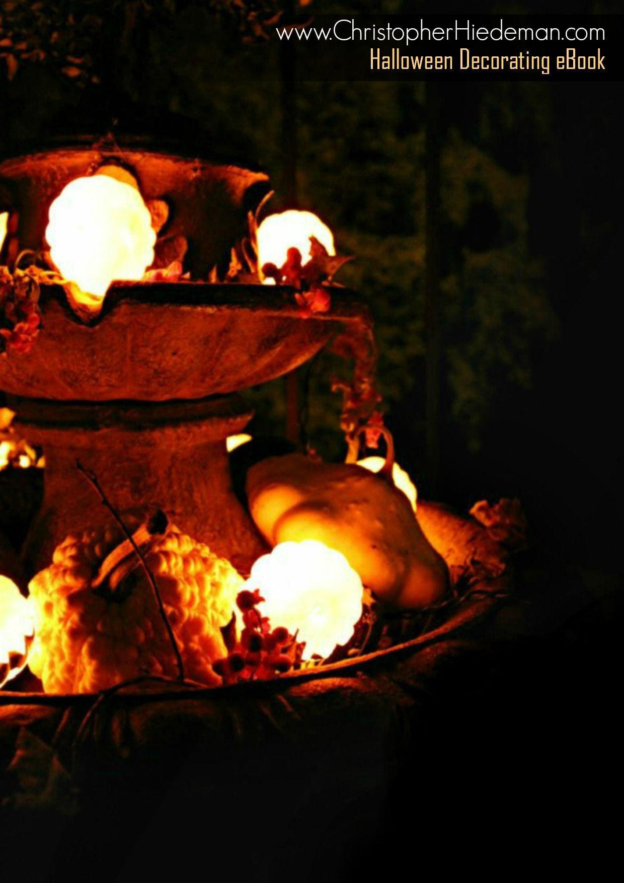 Autumn Fountain #pumpkins #gourds #fall #thanksgiving www.ChristopherHiedeman.com