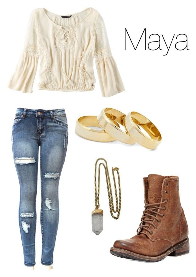 """Maya Hart - Girl Meets World"" by annikadavila on Polyvore featuring American Eagle Outfitters, Lacey Ryan, Freebird and Sole Society"