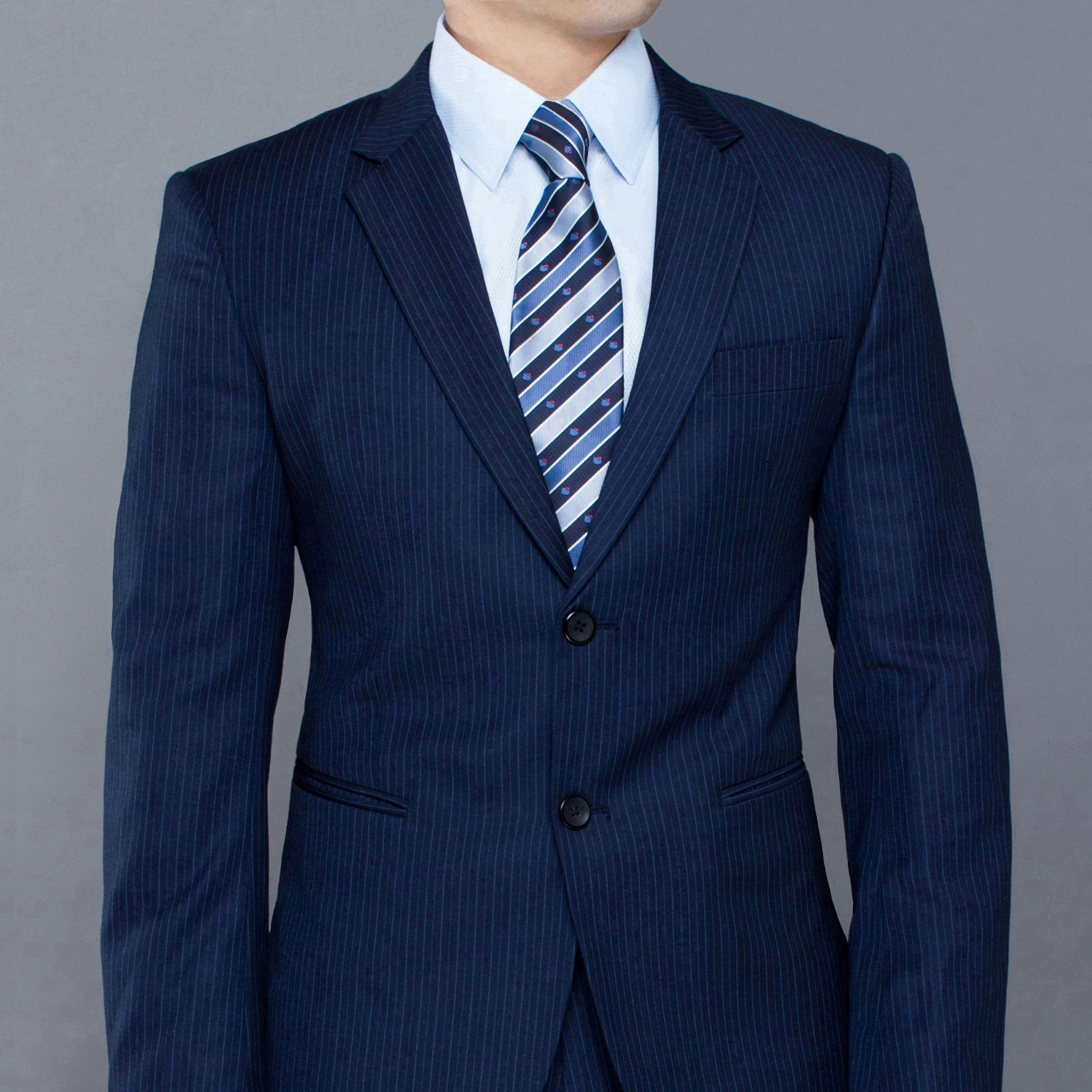 Majestas Royal Blue Pinstripe Suit Price: 449$ http://www.zegare ...