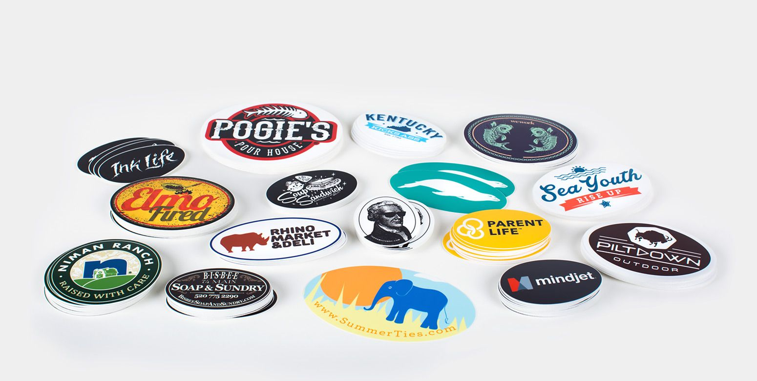 Vinyl oval or euro style stickers are made with a thick durable vinyl and a uv laminate upload your design get a proof in 8 hours free shipping