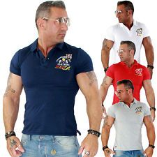 Herren Shirt T Shirt Polo Poloshirt Polohemd Slim Clubwear Style TOP NEU 16103 | eBay