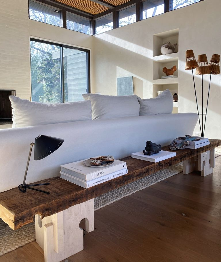 Photo of This Lifestyle Expert Finds Design Magic in Her Living Room Bench