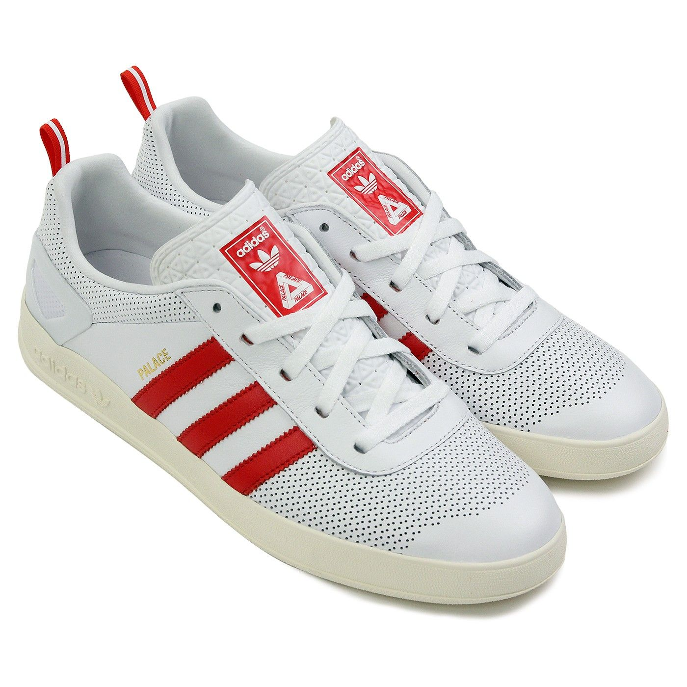 d4f52c0e7c9 Palace x Adidas Palace Pro Shoes in FTW White   Red   Gold Metallic ...