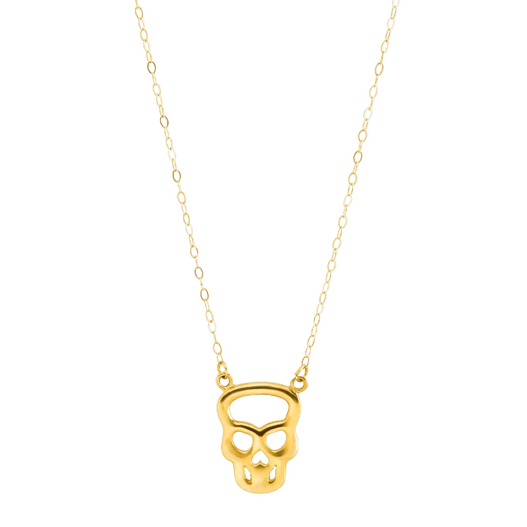 Eternity Gold Teeny Tiny Silhouette Skull Necklace In 10k Gold Teeny Tiny Silhouette Skull Necklace Jewelry Com