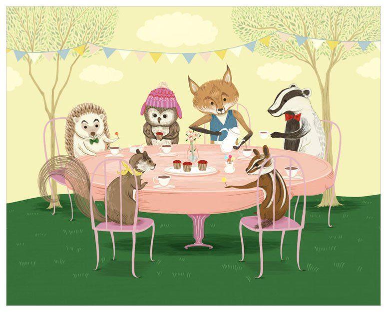 Woodland Tea Party Wall Art | Oopsy Daisy | Pinterest | Tea parties ...