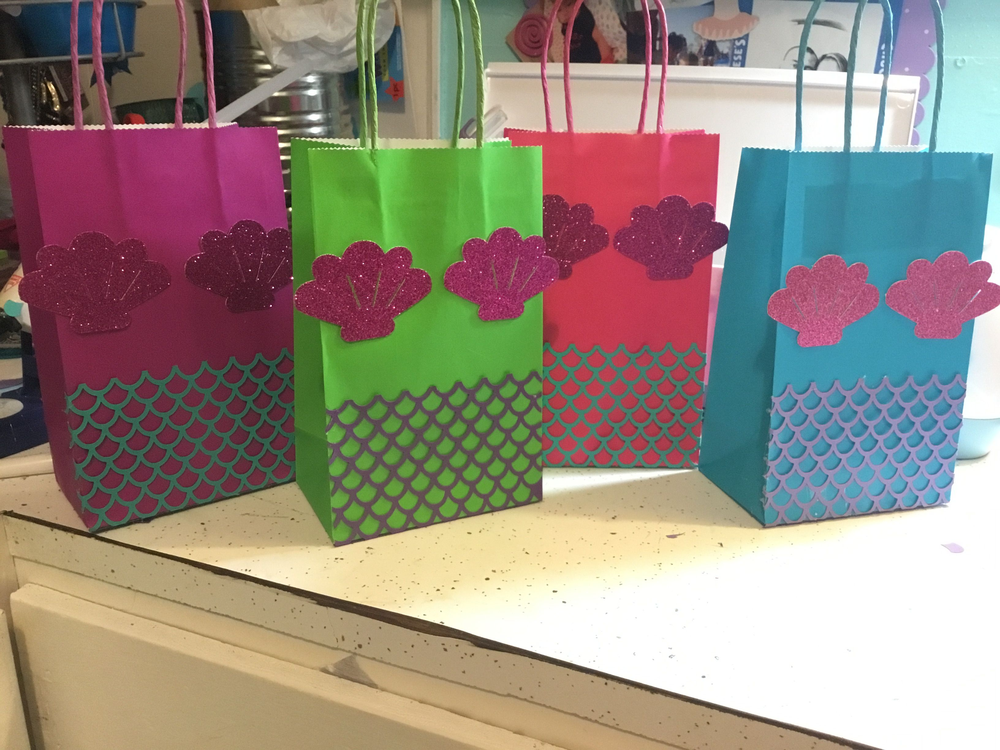 Mermaid Gift Ideas Treat Bags Candy Bags Made With My Cricut For Little
