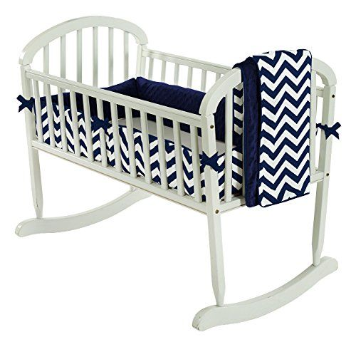 Navy BabyDoll Royal Cradle Bedding Set