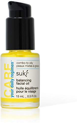 New Suki Skincare Balancing Facial Oil - With Organic Jojoba Oil, Lavender, Chamomile, Calendula - Sebum Equalizing Complexes Calm & Sooth Skin - 15 ml online shopping #jojobaoil