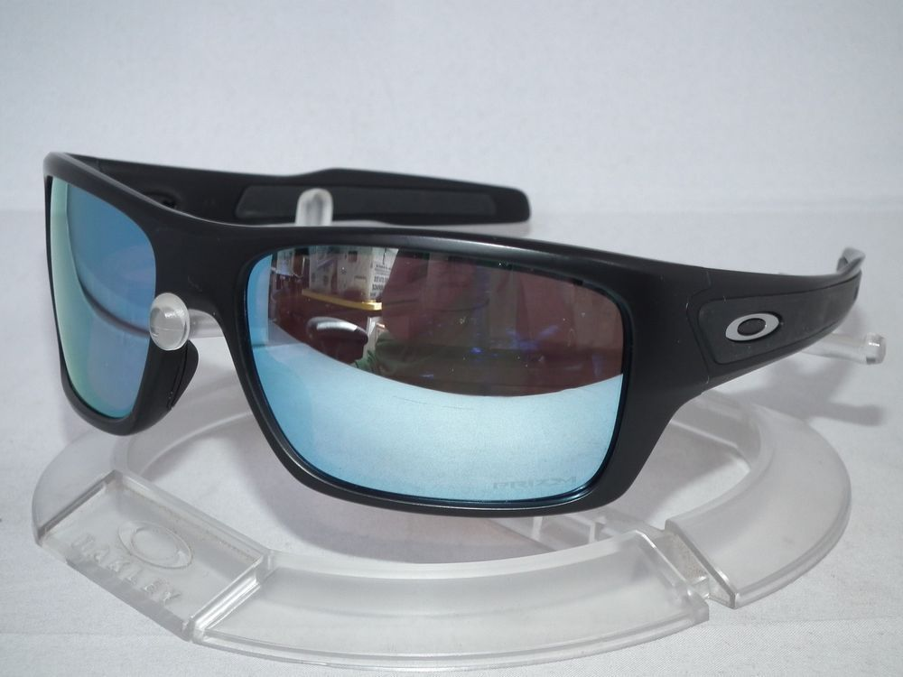 a8e93297cc CUSTOM OAKLEY POLARIZED TURBINE Sunglasses OO9263 Matte Black   Prizm Deep  Water