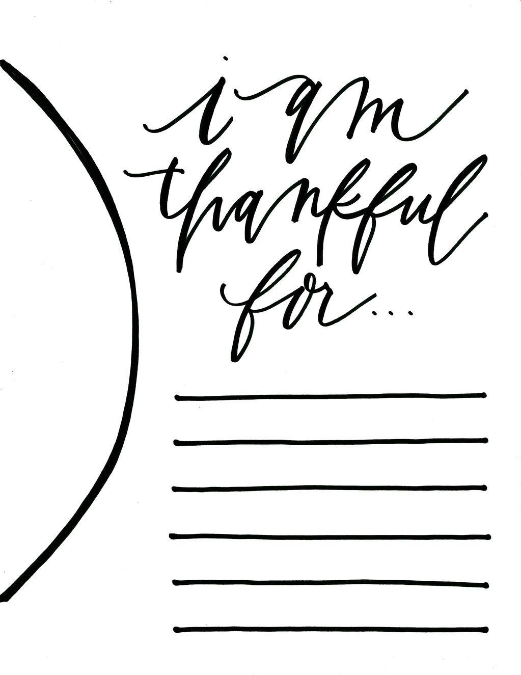 i am thankful for printable Google Search Thanksgiving