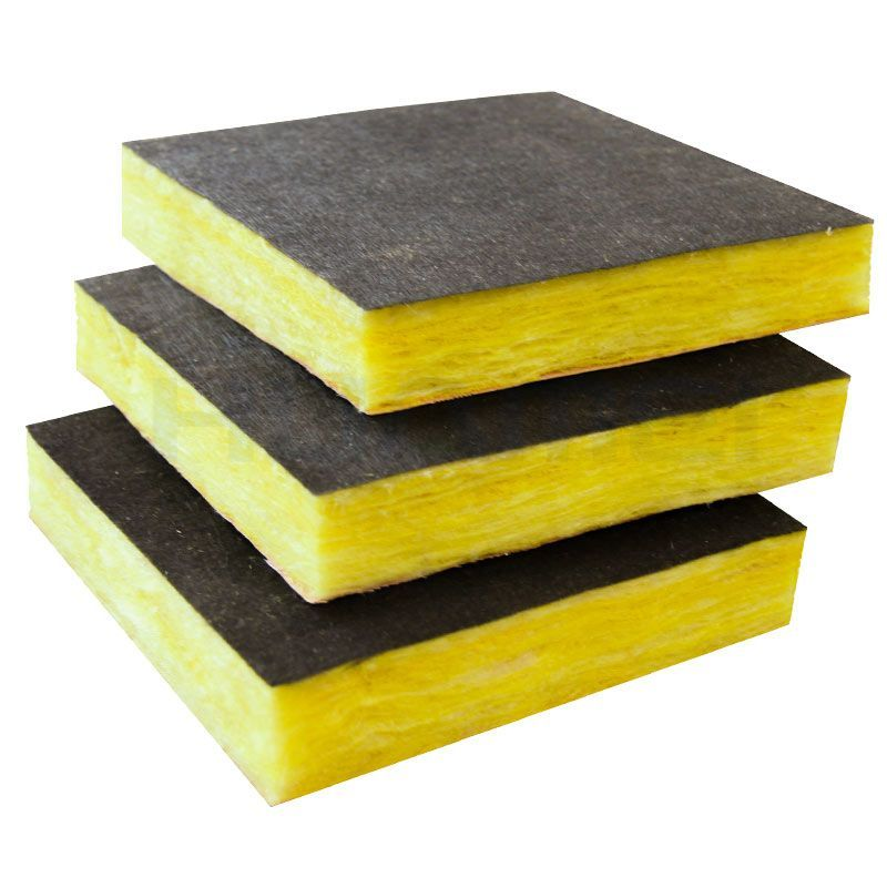Foil-clad glass wool  The foil-clad increases the property of anti-broken .so as not to be destroyed and has high intensity of tensile, in addition; it also has fine appearance and was easy to be installed.