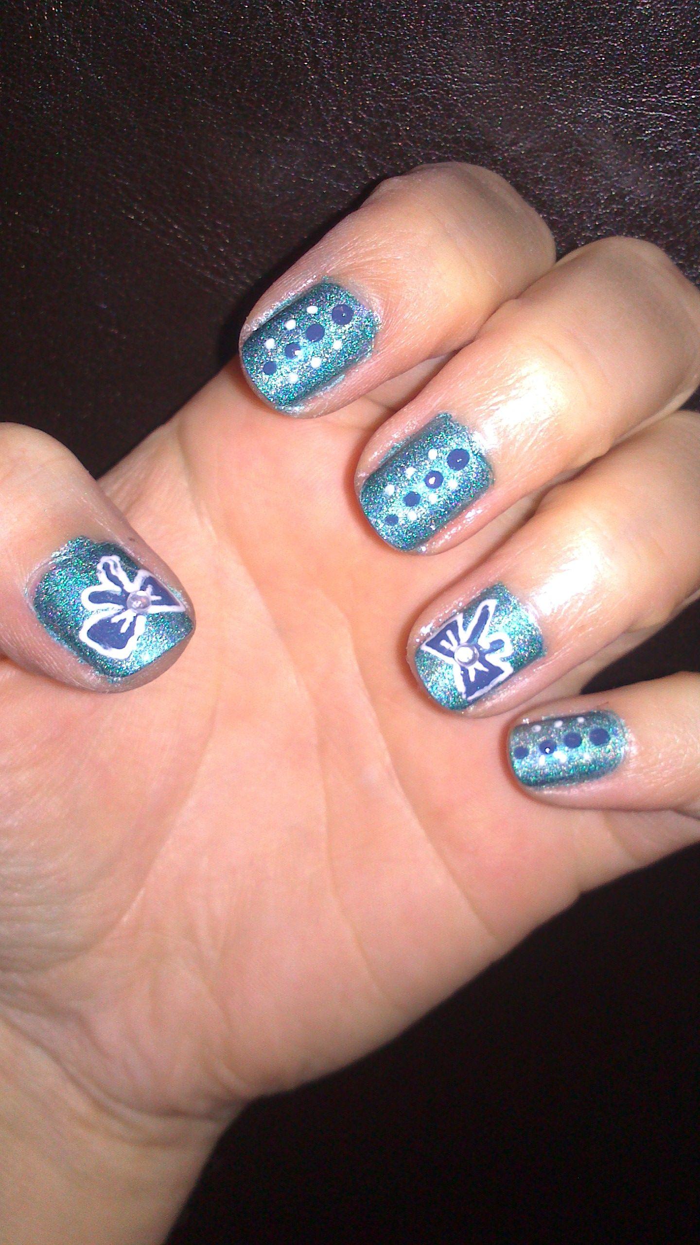 nails #nail #art #stripes #candy #dots #circus #cute #easy #beginner ...