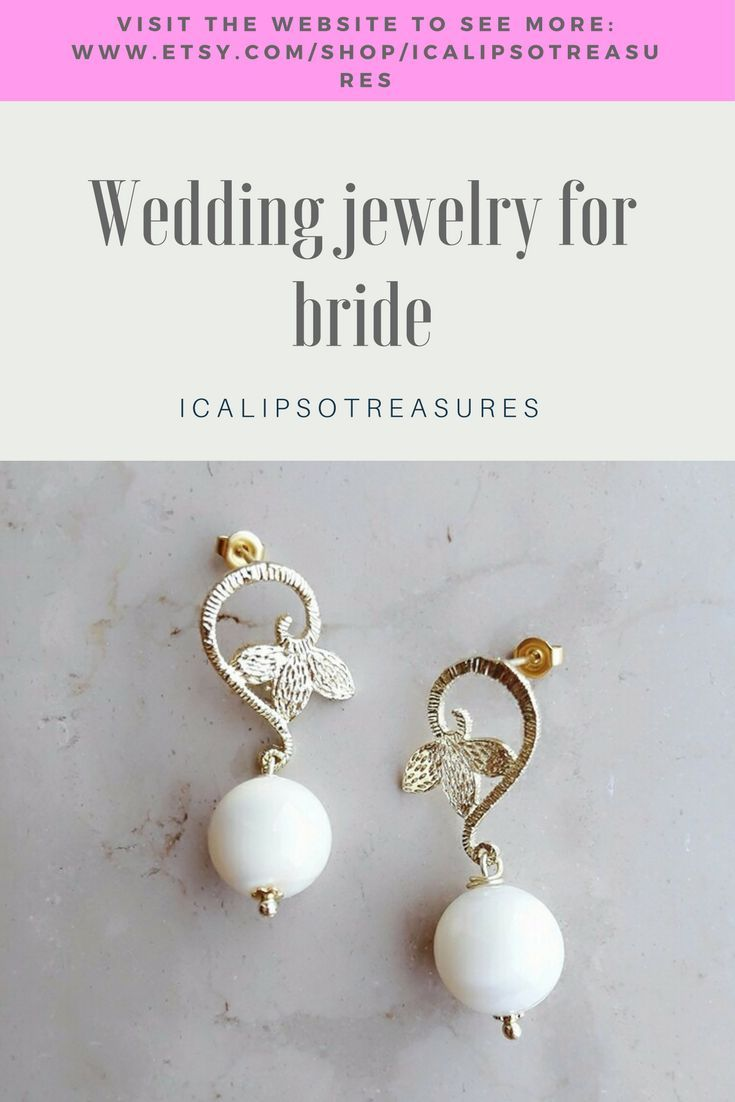 Bridesmaid Gold Earrings Perfect Wedding Jewelry Gift For Bride Visit The Website To See
