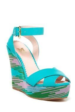 M Missoni Knit Wedge Sandal