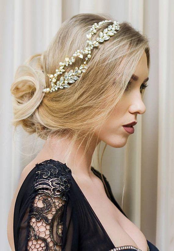 bridal headpiece Pearl Bridal headband Pearl Pearl Hairpiece Pearl Bridal Headband SALE Bridal headpiece vintage Bridal Hairpiece