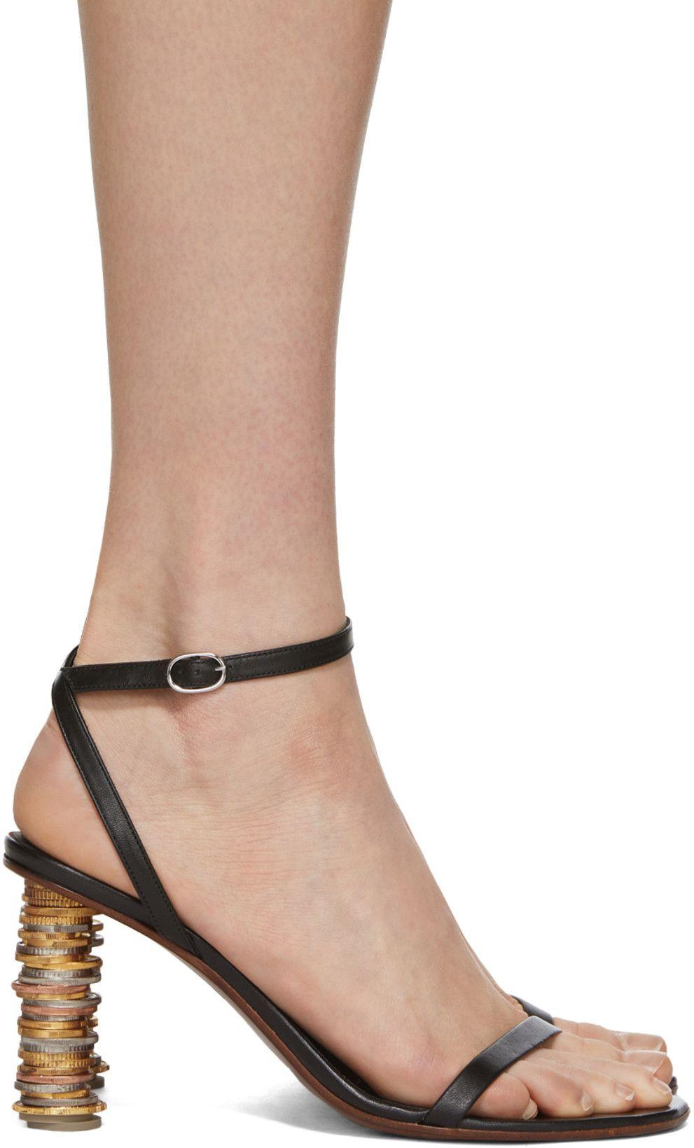 Vetements Black Money Sandals SSENSE Canada Women's