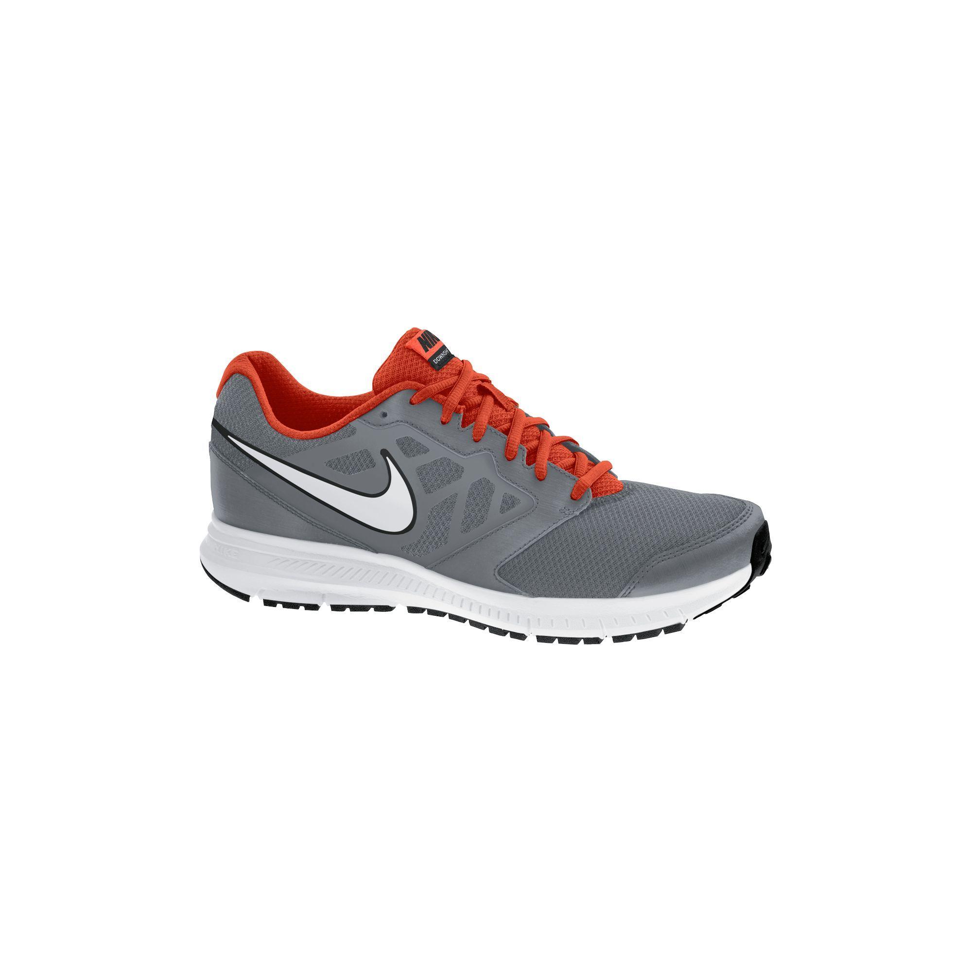 Big Nike Downshifter 6 Grey/Red Mens Running Shoe